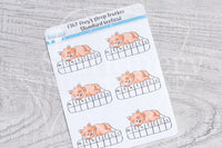 Foxy's sleep tracker functional planner stickers