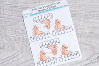 Foxy's workout tracker functional planner stickers