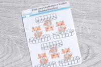 Foxy's hydratation tracker functional planner stickers