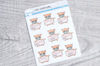 COVID Kitty functional planner stickers