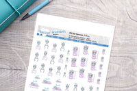 Spoonie zebra Printable Functional Stickers