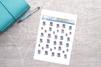 Trash panda dishes Printable Functional Stickers