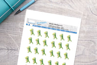 Sickosaurus Printable Functional Stickers