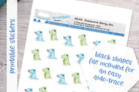 Allergy-Rex Printable Functional Stickers