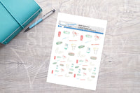 Stationery Printable Functional Stickers