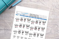 Happy Panda Printable Functional Stickers