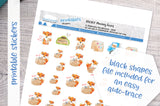 Moving foxes Printable Functional Stickers