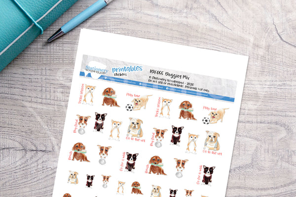 Doggies Printable Functional Stickers
