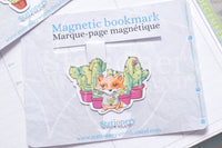 Succulent Foxy magnetic bookmark, Foxy cacti bookmark