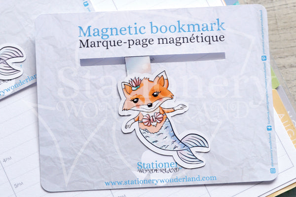 Foxy's under the sea magnetic bookmark, Foxy the merfox