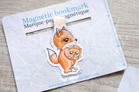 Foxy's kitty magnetic bookmark, Foxy ginger cat bookmark