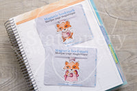 Foxy's ugly sweater magnetic bookmark, Foxy winter bookmark