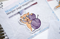 Foxy's crafting kitty magnetic bookmark, Foxy ginger cat bookmark