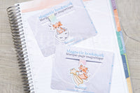 Foxy makes a wish magnetic bookmark, Foxy stars bookmark