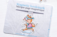 Flower Power Foxy magnetic bookmark, Foxy peace and fox bookmark