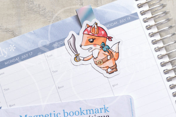 Pirate Foxy magnetic bookmark, Foxy sea bookmark
