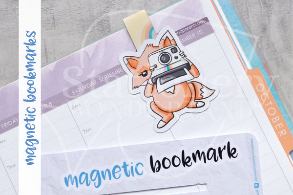 Foxy's instant memories magnetic bookmark, Foxy instant camera bookmark