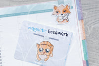 Foxy's winter treats magnetic bookmark, cookie Foxy bookmark