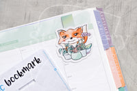 Foxy's plant babies magnetic bookmark, plant lovers Foxy bookmark