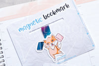 Foxy's library magnetic bookmark, books Foxy bookmark