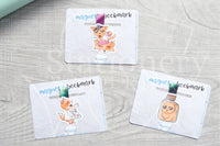 Foxy's spooky lab magnetic bookmark, Foxy spooky bookmark
