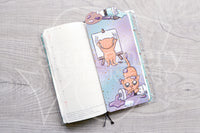 Foxy's crafting kitty pencilboard - Paint - Hobonichi weeks, original and cousin