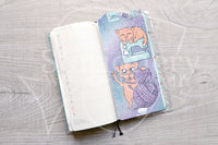 Foxy's crafting kitty pencilboard - Sewing - Hobonichi weeks, original and cousin