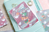 Foxy in Wonderland, Mad Hatter hand-drawn journaling cards for memory planners 3x4""