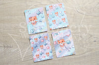 Foxy's under the sea, foxy the merfox hand-drawn journaling cards for memory planners 3x4""