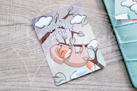 Slothy Foxy hand-drawn journaling cards for memory planners 3x4""