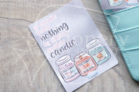 Candle addict Foxy hand-drawn journaling cards for memory planners 3x4""