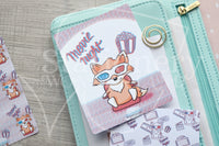 3D Foxy hand-drawn movie night journaling cards for memory planners 3x4""