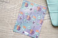 Foxy's crafting kitty hand-drawn journaling cards for memory planners 3x4""