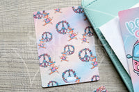 Flower Power Foxy hand-drawn journaling cards for memory planners 3x4""