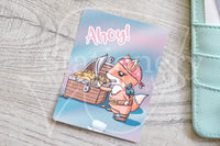 Pirate Foxy hand-drawn journaling cards for memory planners 3x4""