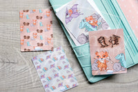 Cavefox Foxy hand-drawn journaling cards for memory planners 3x4""