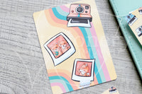 Foxy's instant memories hand-drawn journaling cards for memory planners 3x4""
