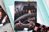 Bloody Foxy hand-drawn journaling cards for memory planners 3x4""