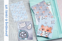 Foxy's winter treats hand-drawn journaling cards for memory planners 3x4""