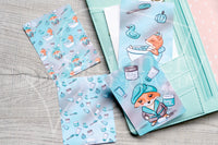 Foxy's spa hand-drawn journaling cards for memory planners 3x4""