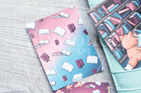 Foxy's library hand-drawn journaling cards for memory planners 3x4""