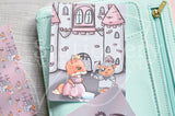 Happily Ever After Foxy hand-drawn journaling cards for memory planners 3x4""