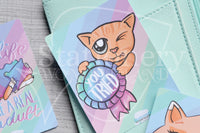 Foxy's Sassy End of the Year hand-drawn journaling cards for memory planners 3x4""