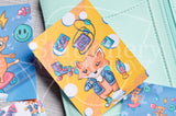 90's Foxy hand-drawn journaling cards for memory planners 3x4""