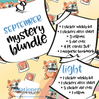 September Mystery Bundle - TN, EC, Mini HP, Personal, Hobonichi