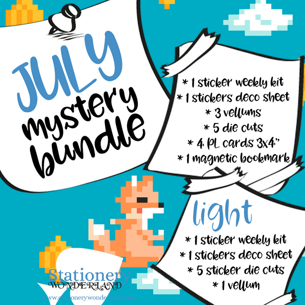 July Mystery Bundle - Hobonichi weeks, original, cousin, TN, Standard Vertical