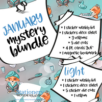 January Mystery Bundle - Hobonichi weeks, original, cousin, TN, EC