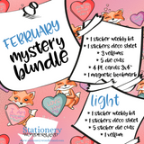 February Mystery Bundle - Hobonichi weeks, original, cousin, TN