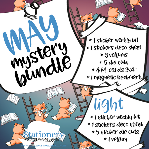 May Mystery Bundle - Hobonichi weeks, original, cousin, TN
