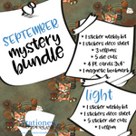 September Mystery Bundle - Hobonichi weeks, original, cousin, TN, Standard Vertical